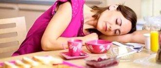 Почему после приема пищи хочется спать
